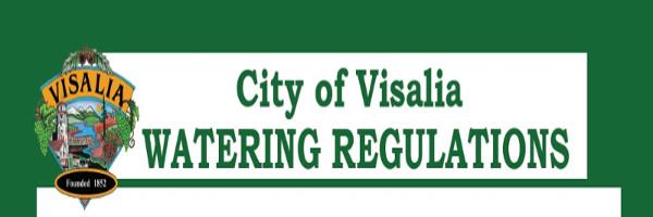 Visalia Watering Schedule 2017