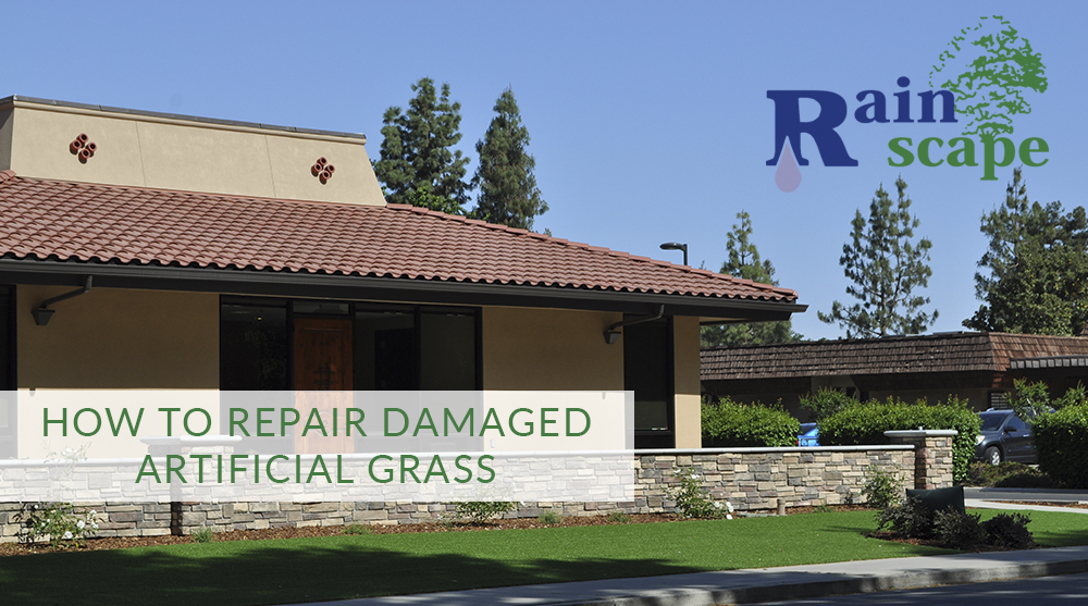 How to repair damaged artificial grass